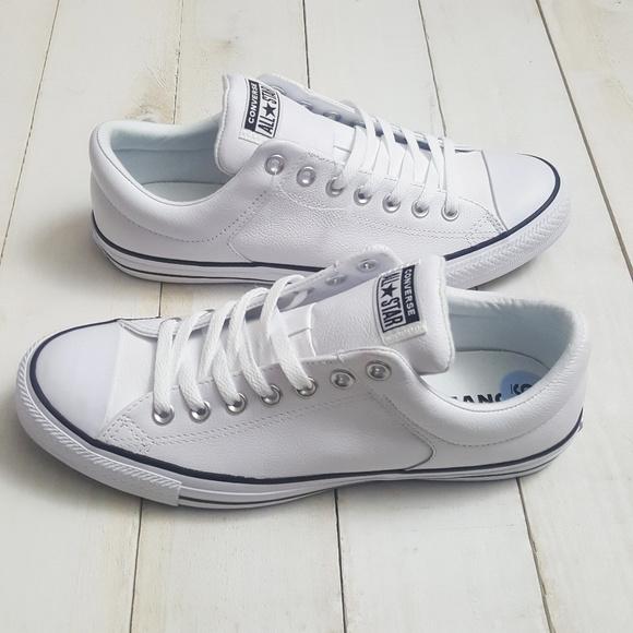 Converse Allstars White Leather Mens